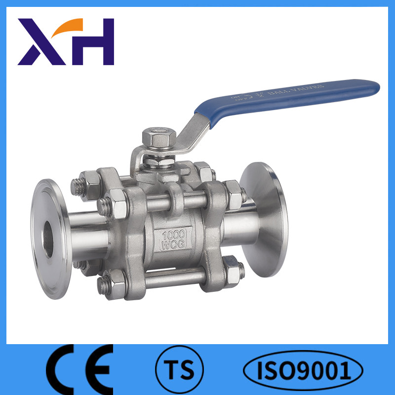 3PC Clamp End Flanged End Hand Ball Valve