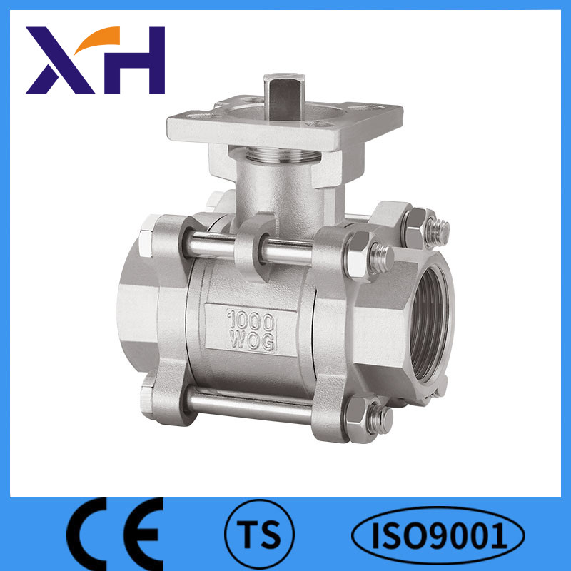 3PC Safety Ball Valve With Mounting Pad