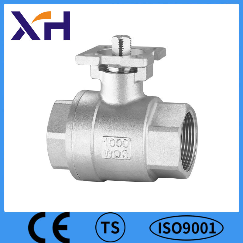 2PC Lever Handle Ball Valve With Mounting Pad